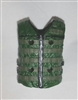 "Male Vest: Tactical Type DARK GREEN Version - 1:18 Scale Modular MTF Accessory for 3-3/4"" Action Figures"