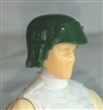 "Headgear: Armor Helmet DARK GREEN Version - 1:18 Scale Modular MTF Accessory for 3-3/4"" Action Figures"