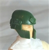 "Headgear: Tactical Helmet DARK GREEN Version - 1:18 Scale Modular MTF Accessory for 3-3/4"" Action Figures"