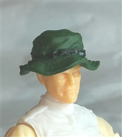 "Headgear: Boonie Hat DARK GREEN Version - 1:18 Scale Modular MTF Accessory for 3-3/4"" Action Figures"