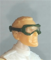 "Headgear: Standard Goggles with Strap DARK GREEN Version - 1:18 Scale Modular MTF Accessory for 3-3/4"" Action Figures"