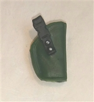 "Pistol Holster: Small  Right Handed DARK GREEN Version - 1:18 Scale Modular MTF Accessory for 3-3/4"" Action Figures"