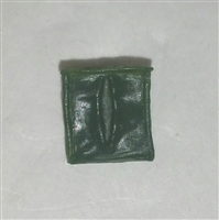 "Ammo Pouch: Empty DARK GREEN Version - 1:18 Scale Modular MTF Accessory for 3-3/4"" Action Figures"
