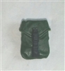 "Pocket: Large Size DARK GREEN Version - 1:18 Scale Modular MTF Accessory for 3-3/4"" Action Figures"