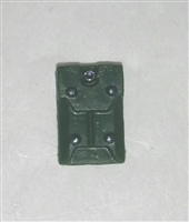 "Armor Panel: Large Size DARK GREEN Version - 1:18 Scale Modular MTF Accessory for 3-3/4"" Action Figures"