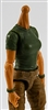MTF Female Valkyries T-Shirt Torso ONLY (NO WAIST/LEGS): DARK GREEN & DARK GREEN Version with LIGHT Skin Tone - 1:18 Scale Marauder Task Force Accessory