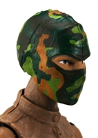 "Female Head: Balaclava Mask DARK GREEN CAMO Version - 1:18 Scale MTF Valkyries Accessory for 3-3/4"" Action Figures"