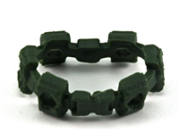 "Web Belt: DARK GREEN Version - 1:18 Scale Modular MTF Accessory for 3-3/4"" Action Figures"