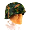 "Headgear: LWH Combat Helmet CAMO DARK GREEN Version - 1:18 Scale Modular MTF Accessory for 3-3/4"" Action Figures"