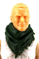"Headgear: Large Neck Scarf ""Shemagh"" DARK GREEN Version - 1:18 Scale Modular MTF Accessory for 3-3/4"" Action Figures"