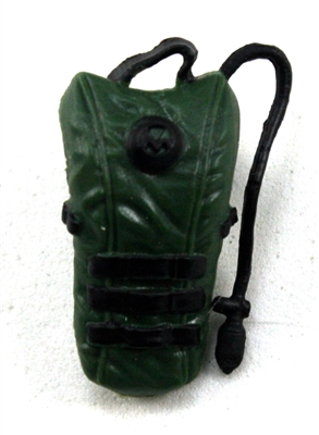 "Camel Hydration Pack: DARK GREEN Version - 1:18 Scale Modular MTF Accessory for 3-3/4"" Action Figures"