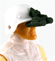 "Headgear: NVG Night Vision Goggles with Plug DARG GREEN Version - 1:18 Scale Modular MTF Accessory for 3-3/4"" Action Figures"