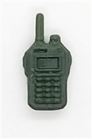 Radio Walkie Talkie: DARK GREEN Version - 1:18 Scale MTF Accessory for 3 3/4 Inch Action Figures
