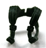"Male Vest: Shoulder Rig DARK GREEN Version - 1:18 Scale Modular MTF Accessory for 3-3/4"" Action Figures"