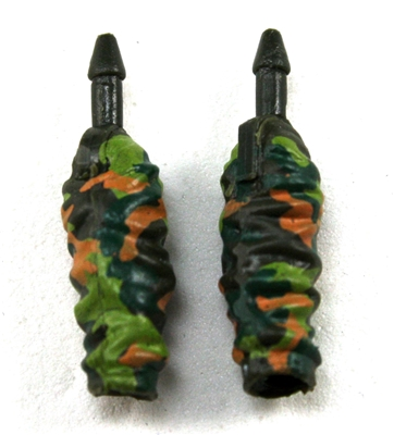 "Male Forearms: CAMO DARK GREEN Cloth Forearms (NO Armor) - Right AND Left (Pair) - 1:18 Scale MTF Accessory for 3-3/4"" Action Figures"