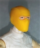 "Male Head: Balaclava Mask YELLOW Version - 1:18 Scale MTF Accessory for 3-3/4"" Action Figures"