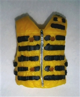 "Male Vest: Tactical Type YELLOW Version - 1:18 Scale Modular MTF Accessory for 3-3/4"" Action Figures"
