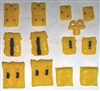 "Pouch & Pocket Deluxe Modular Set: YELLOW Version - 1:18 Scale Modular MTF Accessories for 3-3/4"" Action Figures"
