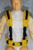 "Male Vest: Harness Rig YELLOW Version - 1:18 Scale Modular MTF Accessory for 3-3/4"" Action Figures"