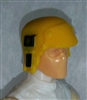 "Headgear: Armor Helmet YELLOW Version - 1:18 Scale Modular MTF Accessory for 3-3/4"" Action Figures"