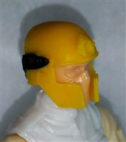 "Headgear: Tactical Helmet YELLOW Version - 1:18 Scale Modular MTF Accessory for 3-3/4"" Action Figures"