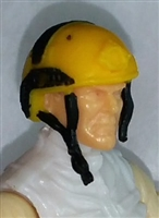 "Headgear: Half-Shell Helmet YELLOW Version - 1:18 Scale Modular MTF Accessory for 3-3/4"" Action Figures"