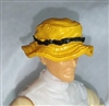 "Headgear: Boonie Hat YELLOW Version - 1:18 Scale Modular MTF Accessory for 3-3/4"" Action Figures"