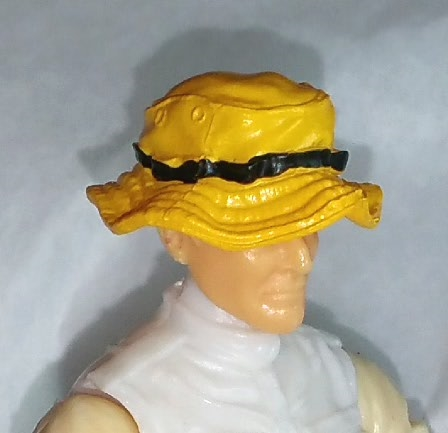 f099249e9f3 Headgear  Boonie Hat YELLOW Version - 1 18 Scale Modular MTF Accessory for 3 -3 4