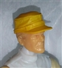 "Headgear: Fatigue Cap YELLOW Version - 1:18 Scale Modular MTF Accessory for 3-3/4"" Action Figures"