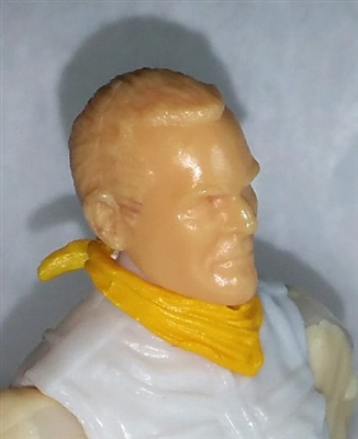 "Headgear: Standard Neck Scarf YELLOW Version - 1:18 Scale Modular MTF Accessory for 3-3/4"" Action Figures"