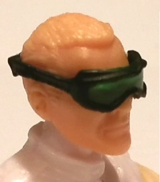 "Headgear: Standard Goggles BLACK Version with GREEN Tint Lenses   - 1:18 Scale Modular MTF Accessory for 3-3/4"" Action Figures"