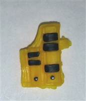 "Pistol Holster: Large Right Handed with Loop YELLOW Version - 1:18 Scale Modular MTF Accessory for 3-3/4"" Action Figures"