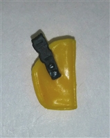 "Pistol Holster: Small  Right Handed YELLOW Version - 1:18 Scale Modular MTF Accessory for 3-3/4"" Action Figures"