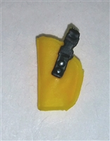 "Pistol Holster: Small Left Handed YELLOW Version - 1:18 Scale Modular MTF Accessory for 3-3/4"" Action Figures"