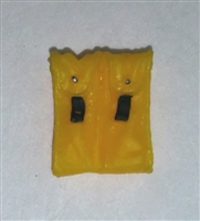 "Ammo Pouch: Double Magazine YELLOW Version - 1:18 Scale Modular MTF Accessory for 3-3/4"" Action Figures"