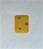 "Armor Panel: Small Size YELLOW Version - 1:18 Scale Modular MTF Accessory for 3-3/4"" Action Figures"