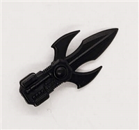 MTF Exo-Suit: TRI-BLADE COMBAT KNIFE - BLACK Version - 1:18 Scale Marauder Task Force Accessory