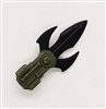 MTF Exo-Suit: TRI-BLADE COMBAT KNIFE - GREEN Version - 1:18 Scale Marauder Task Force Accessory