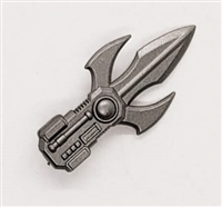 MTF Exo-Suit: TRI-BLADE COMBAT KNIFE - GUN-METAL Version - 1:18 Scale Marauder Task Force Accessory