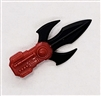 MTF Exo-Suit: TRI-BLADE COMBAT KNIFE - RED Version - 1:18 Scale Marauder Task Force Accessory