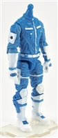 "MTF Male Trooper Body WITHOUT Head LIGHT BLUE & WHITE ""Strato-Ops"" Armor Leg Version BASIC - 1:18 Scale Marauder Task Force Action Figure"