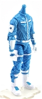 "MTF Male Trooper Body WITHOUT Head LIGHT BLUE & WHITE ""Strato-Ops"" Cloth Legs (No Leg Armor)  - 1:18 Scale Marauder Task Force Action Figure"