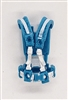 "Male Vest: Harness Rig LIGHT BLUE with WHITE Version - 1:18 Scale Modular MTF Accessory for 3-3/4"" Action Figures"
