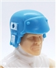 "Headgear: Armor Helmet LIGHT BLUE with WHITE Version - 1:18 Scale Modular MTF Accessory for 3-3/4"" Action Figures"