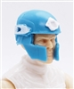 "Headgear: Tactical Helmet LIGHT BLUE with WHITE Version - 1:18 Scale Modular MTF Accessory for 3-3/4"" Action Figures"