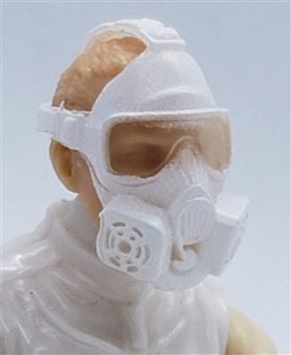 "Headgear: Gasmask ALL WHITE Version - 1:18 Scale Modular MTF Accessory for 3-3/4"" Action Figures"