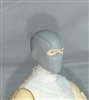 "Male Head: Balaclava Mask GRAY Version - 1:18 Scale MTF Accessory for 3-3/4"" Action Figures"