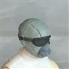 "Male Head: Mask with Goggles & Breather GRAY Version - 1:18 Scale MTF Accessory for 3-3/4"" Action Figures"