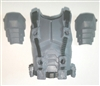 "Male Vest: Armor Type GRAY Version - 1:18 Scale Modular MTF Accessory for 3-3/4"" Action Figures"