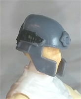 "Headgear: Tactical Helmet GRAY Version - 1:18 Scale Modular MTF Accessory for 3-3/4"" Action Figures"